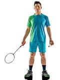 Homem asiático do jogador do badminton isolado Foto de Stock