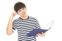 Homem asiático inquieto imagens de stock royalty free