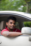 Homem asiático no carro Foto de Stock Royalty Free