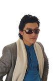 Homem asiático nos sunglass Imagem de Stock Royalty Free