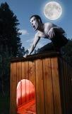 Homem assustador Imagem de Stock