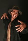 Homem assustador irritado Fotos de Stock Royalty Free