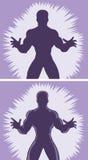 Homem atacando do esboço Imagens de Stock
