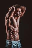 Homem atlético considerável muito muscular fotografia de stock royalty free
