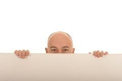 Homem atrás da placa Imagem de Stock Royalty Free
