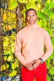 Homem Autumn Casual Fashion em New York fotos de stock royalty free