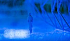 Homem azul Fotos de Stock