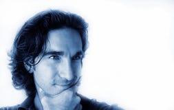 Homem azul - 7 foto de stock royalty free