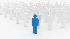 Homem azul do líder Imagem de Stock Royalty Free