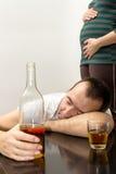 Homem bêbado Fotografia de Stock Royalty Free