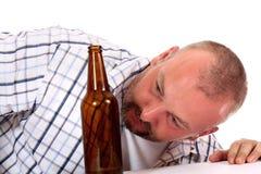 Homem bêbedo foto de stock
