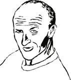 Homem Balding ilustração stock