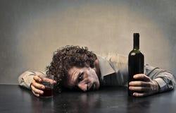 Homem bêbedo Fotos de Stock Royalty Free