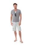 Homem bem parecido no verão Imagens de Stock