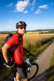 Homem Biking Imagens de Stock Royalty Free