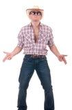 Homem bonito com chapéu de cowboy Fotografia de Stock
