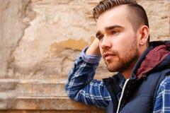 Homem bonito exterior Imagem de Stock Royalty Free