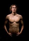 Homem bonito molhado Foto de Stock Royalty Free