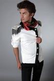 Homem bonito na roupa exclusiva do projeto Foto de Stock Royalty Free