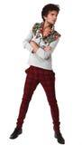 Homem bonito na roupa exclusiva do projeto Imagens de Stock Royalty Free