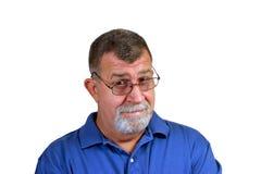 Homem céptico Fotografia de Stock Royalty Free