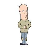 homem calvo engraçado dos desenhos animados Fotografia de Stock