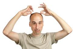 Homem calvo engraçado novo Fotografia de Stock