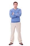 Homem caucasiano adulto no equipamento ocasional isolado Foto de Stock Royalty Free