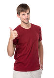 Homem caucasiano com polegar acima Fotografia de Stock Royalty Free