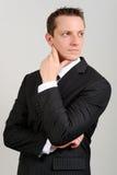 Homem caucasiano no terno Fotografia de Stock