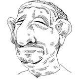 Homem cheirado grande Imagem de Stock Royalty Free