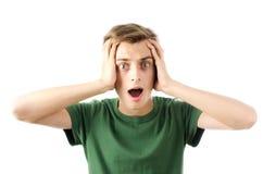 Homem chocado Fotografia de Stock