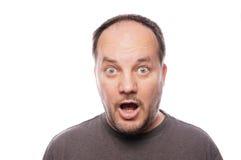 Homem chocado foto de stock royalty free