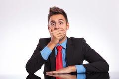 Homem chocado do escritório Imagens de Stock Royalty Free
