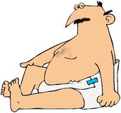 Homem Chubby nos tecidos Imagens de Stock Royalty Free