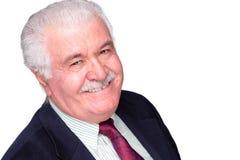 Homem cinzento-de cabelo idoso carismático jovial imagens de stock royalty free