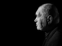 Homem cinzento idoso triste Foto de Stock Royalty Free
