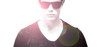 Homem com óculos de sol Imagem de Stock