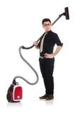 Homem com aspirador de p30 Imagens de Stock Royalty Free