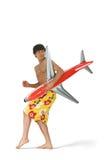 Homem com avião Imagem de Stock Royalty Free