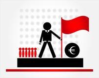 Homem com bandeira Imagens de Stock