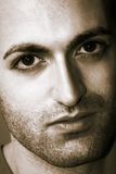 Homem com barba e os olhos grandes Foto de Stock Royalty Free