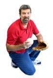 Homem com basebol Fotografia de Stock Royalty Free