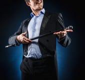 Homem com bastão Imagem de Stock