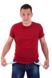 Homem com bolsos vazios Foto de Stock Royalty Free
