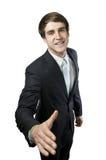 Homem com braço estendido Fotos de Stock