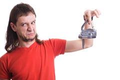 Homem com câmera Imagens de Stock
