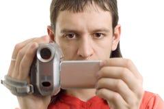 Homem com câmera Fotografia de Stock