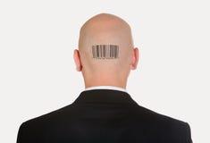 Homem com código de barra imagens de stock royalty free