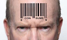 Homem com código de barras Imagens de Stock